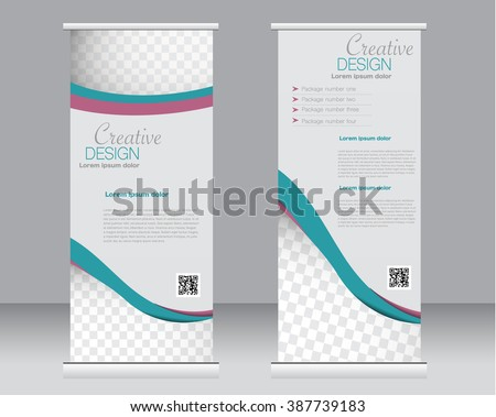 roll up stand banner template layout - Download Free Vector Art ...