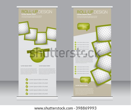 Royalty Free Stock Photos and Images: Roll up banner stand template ...