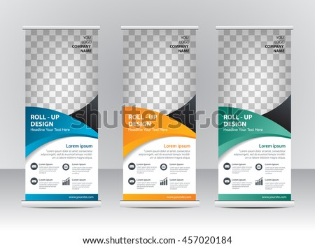 Roll up banner stand template design #457020184