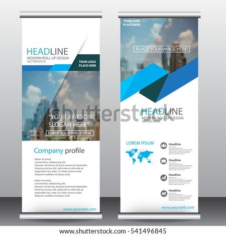roll up business brochure flyer banner design vertical template vector, cover presentation ,infographics,abstract geometric background, modern publication x-banner and flag-banner,carpet design. #541496845