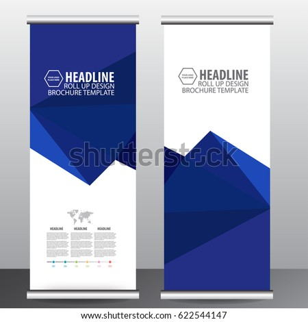 Roll up business brochure flyer banner design vertical template vector, cover presentation ,infographics , abstract geometric background, modern publication x-banner and flag-banner,carpet design. #622544147