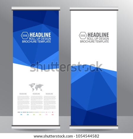 Roll up business brochure flyer banner design vertical template vector, cover presentation abstract geometric background, modern publication x-banner and flag-banner,carpet design #1054544582