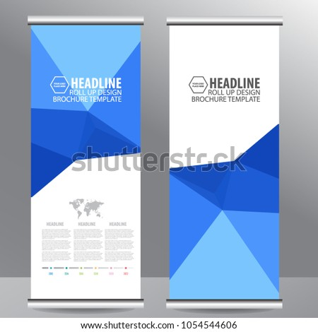 Roll up business brochure flyer banner design vertical template vector, cover presentation abstract geometric background, modern publication x-banner and flag-banner,carpet design #1054544606