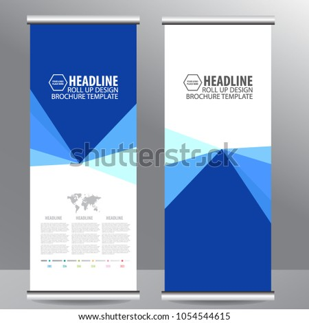 Roll up business brochure flyer banner design vertical template vector, cover presentation abstract geometric background, modern publication x-banner and flag-banner,carpet design #1054544615