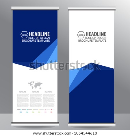 Roll up business brochure flyer banner design vertical template vector, cover presentation abstract geometric background, modern publication x-banner and flag-banner,carpet design #1054544618