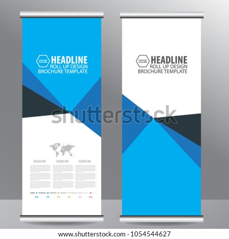 Roll up business brochure flyer banner design vertical template vector, cover presentation abstract geometric background, modern publication x-banner and flag-banner,carpet design #1054544627