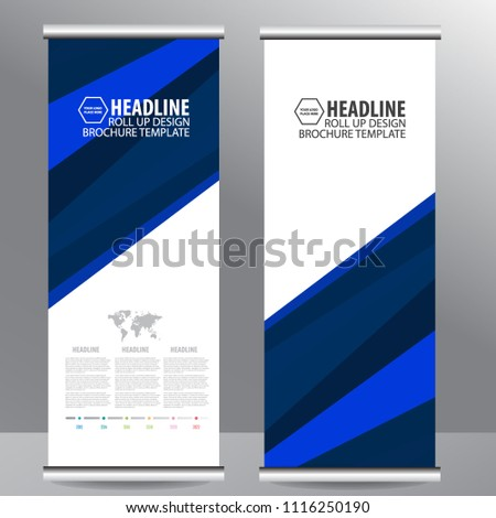 Roll up business brochure flyer banner design vertical template vector, cover presentation abstract geometric background, modern publication x-banner and flag-banner,carpet design #1116250190