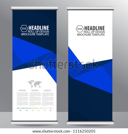 Roll up business brochure flyer banner design vertical template vector, cover presentation abstract geometric background, modern publication x-banner and flag-banner,carpet design #1116250205