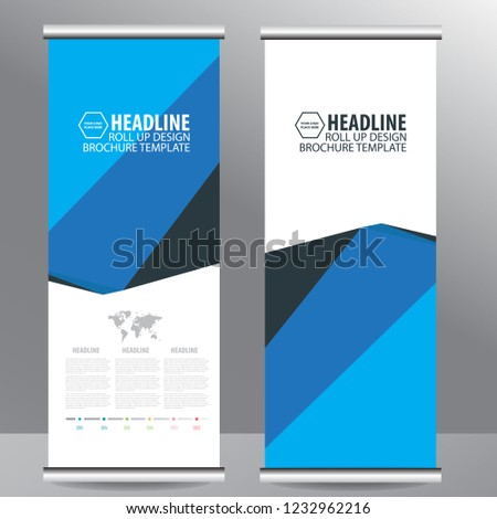 Roll up business brochure flyer banner design vertical template vector, cover presentation abstract geometric background, modern publication x-banner and flag-banner,carpet design #1232962216