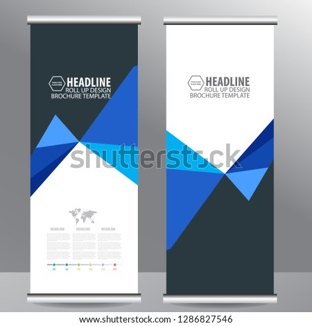 Roll up business brochure flyer banner design vertical template vector, cover presentation abstract geometric background, modern publication x-banner and flag-banner,carpet design #1286827546
