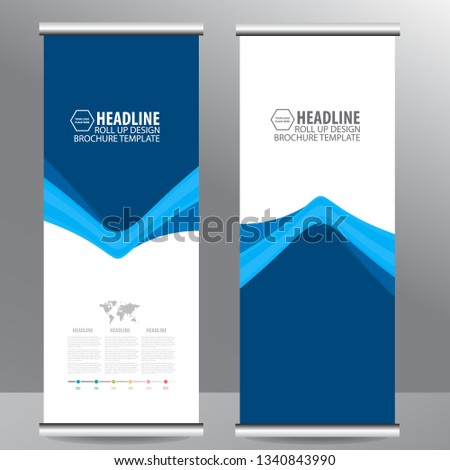 Roll up business brochure flyer banner design vertical template vector, cover presentation abstract geometric background, modern publication x-banner and flag-banner,carpet design #1340843990