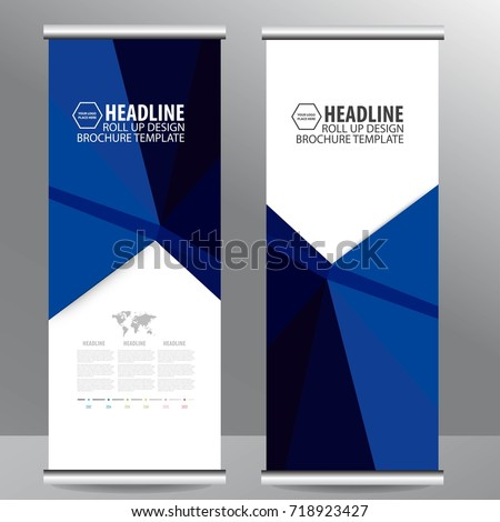 Roll up business brochure flyer banner design vertical template vector, cover presentation abstract geometric background, modern publication x-banner and flag-banner,carpet design #718923427