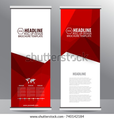 Roll up business brochure flyer banner design vertical template vector, cover presentation abstract geometric background, modern publication x-banner and flag-banner,carpet design - Shutterstock ID 740142184