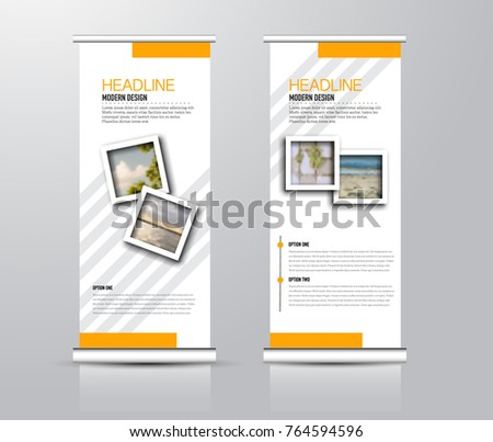 roll up vertical banner template stand panel design business