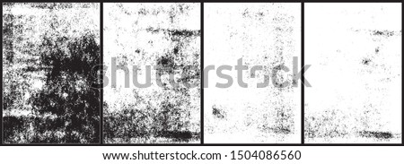 Rolled ink textures. Set of 4 high quality textures