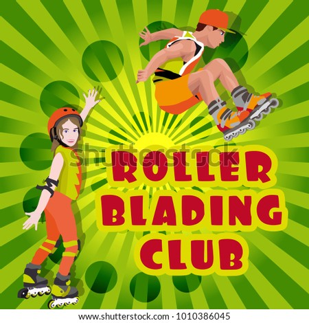 roller blading club, roller blading