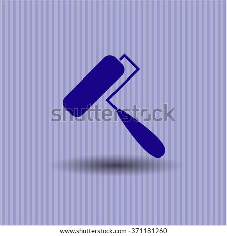 Roller brush high quality icon