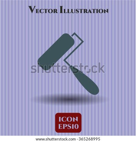 Roller brush icon or symbol