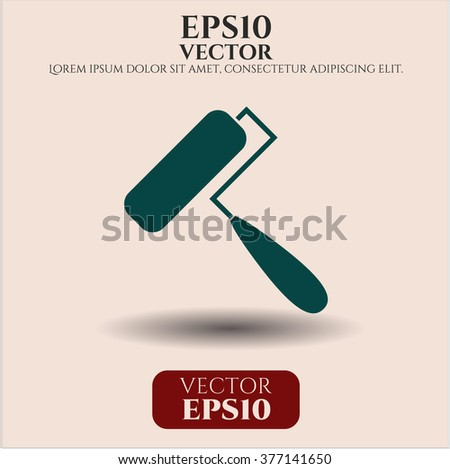 Roller brush icon vector illustration