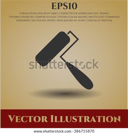 Roller brush icon vector illustration