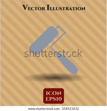 Roller brush symbol