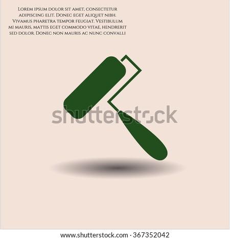 Roller brush vector symbol