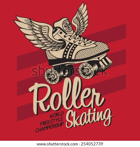 roller skate typography  t