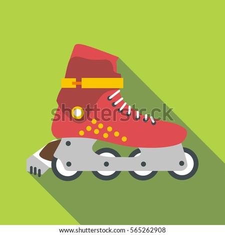 Roller-skates icon. Flat illustration of roller-skates vector icon for web design
