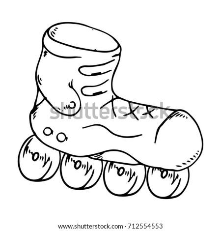 Roller Skates. Vector illustration.