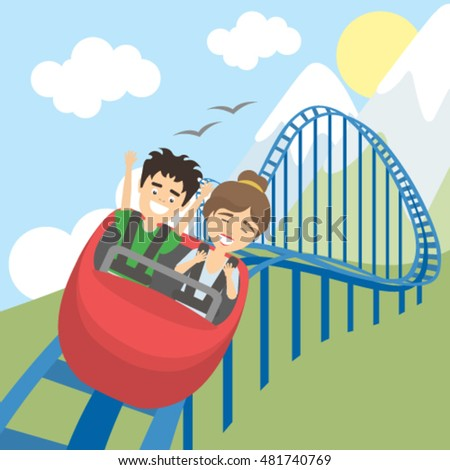 rollercoaster in amusement park