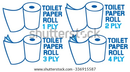 rolls of toilet paper  1  2  3