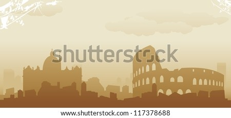 roma abstract skyline