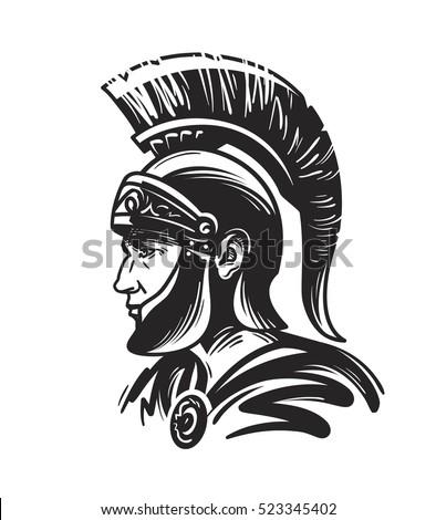 roman centurion soldier sketch
