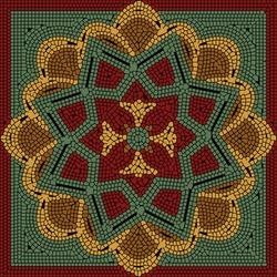 Roman classic mosaic  - vector illustration