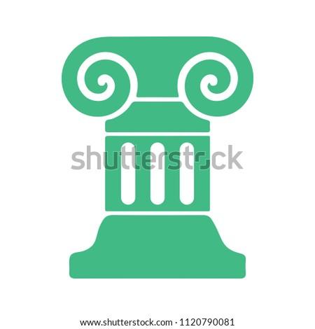 roman column icon. graphic decoration symbol