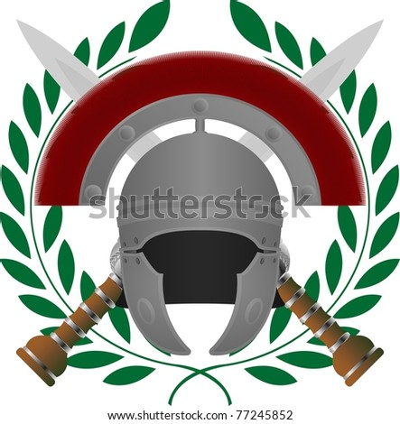 roman glory. fifth variant. vector illustration - stock vector