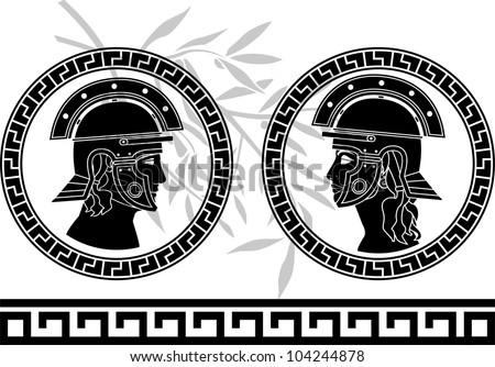 roman god and goddess. vector illustration