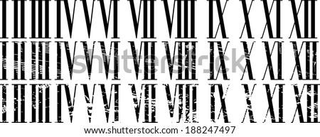 roman numerals set no mash no