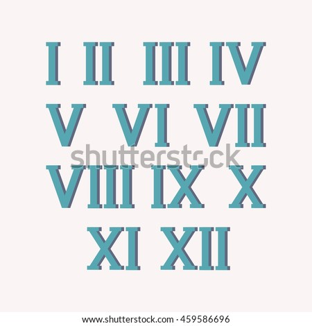 Vector Images, Illustrations and Cliparts: Roman numerals