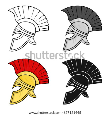 Royalty Free Roman Soldiers Helmet Icon In Black 529194394 Stock
