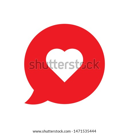 romance chat icon. flat illustration of romance chat - vector icon. romance chat sign symbol