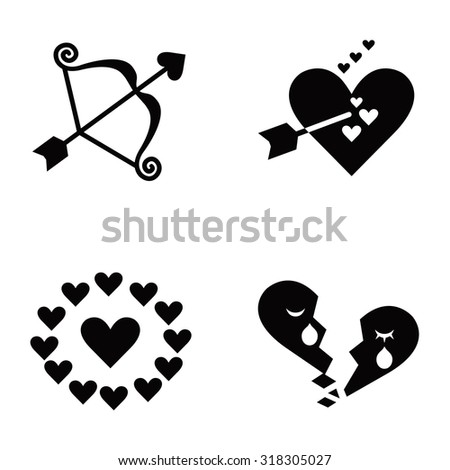 romance vector icons