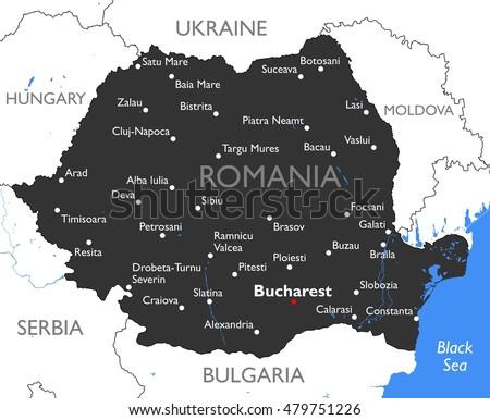 Free Romania Map Vector Download Free Vector Art Stock Graphics - Romania map