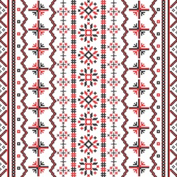 Romanian Embroideries seamless pattern, vector design