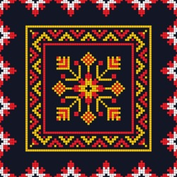 Romanian vector pattern inspired from traditional embroidery