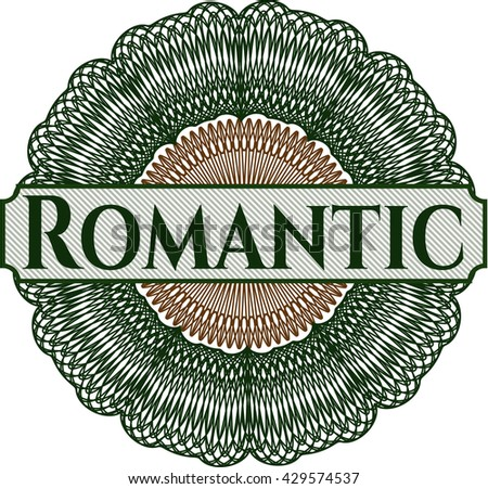 Romantic abstract rosette