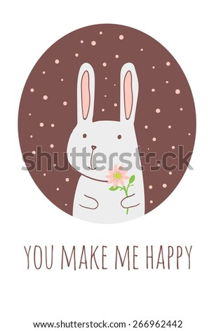 romantic and love card with