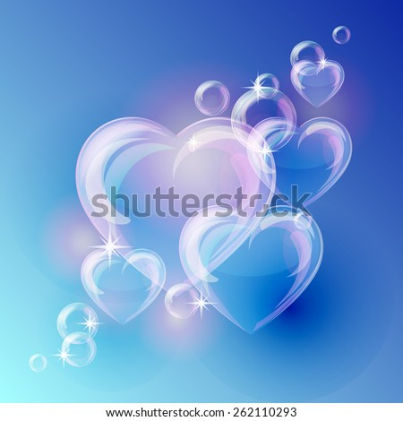 romantic background with bubble