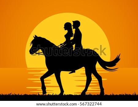 romantic background with couple