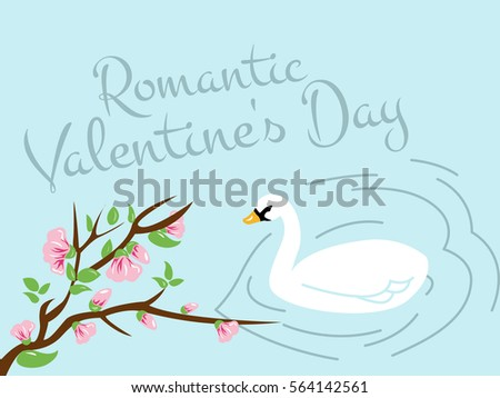romantic blue lake with white